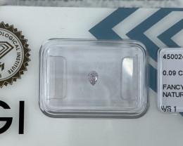 Untreated Fancy Pink Diamond IGI CERTIFIED Sealed VS1 Pear Teardrop Cut