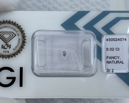 Untreated Fancy Pink Purple Diamond IGI CERTIFIED Sealed SI2 Pear Teardrop