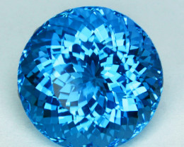 14.13 Cts Natural Swiss Blue Topaz Round Brilliant  Collection Gem USA