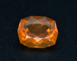 5.64Cts Natural Extremely Mexican Fire Opal Cushion Custom Cut  Loose Gem V