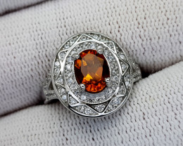 22CT MADEIRA CITRINE 925 SILVER RING 7 BEST QUALITY GEMSTONE IIGC33