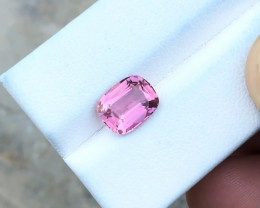 HGTL CERTIFIED 2.44 Ct Natural Pink Transparent Tourmaline Top Quality Gems