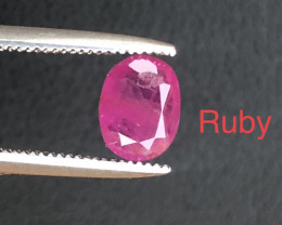 Attractive 0.90 ct lovely Ruby outstanding color Ring Size