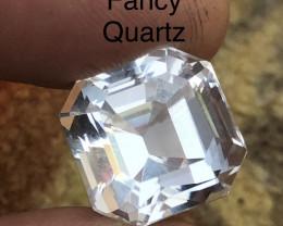 Top Class 17.40 ct New Cut Quartz Ring Size