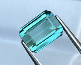 4.47 Cts Seafoam Blue Color AAA Grade Natural Top Color Tourmaline