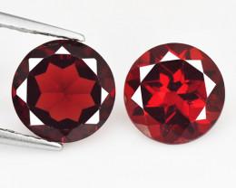 Rhodolite Garnet 3.05 Cts 2 Pcs Unheated Natural Cherry Red Gemstone
