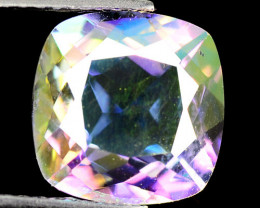 Mystic Topaz 3.09 Cts Rare Fancy White Rainbow Color Natural
