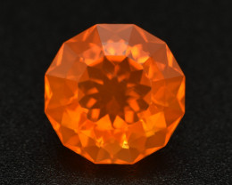 7.68Cts Natural Extremely Mexican Fire Opal Round Custom Cut  Loose Gem VDO