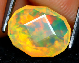 Welo Opal 1.29Ct Master Cut Natural Ethiopian Play Color Welo Opal C1602