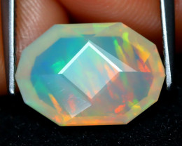 Welo Opal 2.10Ct Master Cut Natural Ethiopian Play Color Welo Opal C1603
