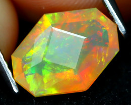 Welo Opal 1.38Ct Master Cut Natural Ethiopian Play Color Welo Opal C1608