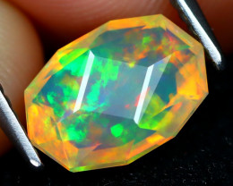 Welo Opal 1.36Ct Master Cut Natural Ethiopian Play Color Welo Opal C1611