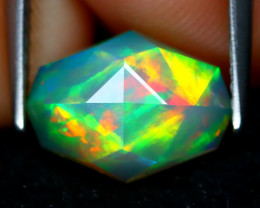 Welo Opal 1.80Ct Master Cut Natural Ethiopian Play Color Welo Opal C1613