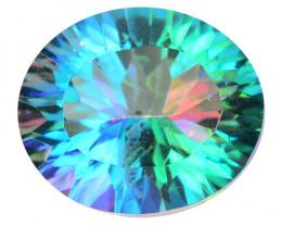 Mystic Topaz 4.49 Cts Rare Millennium Cut Fancy Multicolor Natural