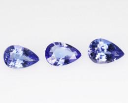 Tanzanite 1.72 Cts 3 pcs Amazing rare AA+ Violet Blue Color Natural Gemston