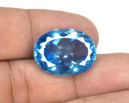 Topaz 26.84 Carat Super Swiss Blue Natural Gemstone