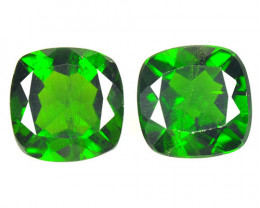 Chrome Diopside 2.87 Cts 2 Pcs Natural Green Color Loose Gemstone