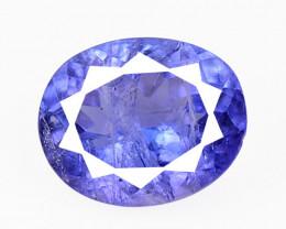 Tanzanite 1.34 Cts  Amazing rare Violet Blue Color Natural Gemstone