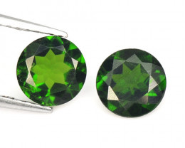 Chrome Diopside 1.57 Cts 2 Pcs Natural Green Color Loose Gemstone