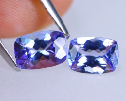 1.70cts Natural D Block Tanzanite Pairs Stone / KL758