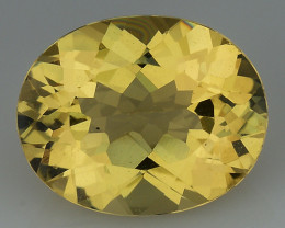 2.25 CT NATURAL HELIODOR TOP CLASS LUSTER GEMSTONE HL28