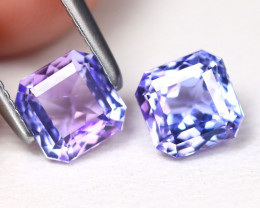 Tanzanite 1.49Ct 2Pcs VVS Master Cut Natural Purplish Blue Tanzanite A1616
