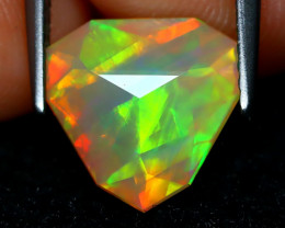 Welo Opal 2.12Ct Master Cut Natural Ethiopian Play Color Welo Opal A1703