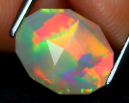 Welo Opal 1.58Ct Master Cut Natural Ethiopian Play Color Welo Opal A1716