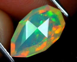 Welo Opal 1.56Ct Master Cut Natural Ethiopian Play Color Welo Opal A1718