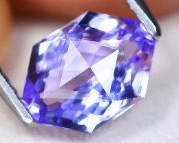 Tanzanite 1.51Ct 2Pcs VVS Master Cut Natural Purplish Blue Tanzanite A1716
