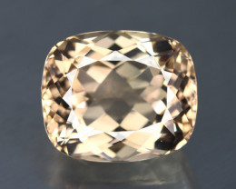 38.335 CT  PEACH BROWN IF CLEAN NATURAL UNHEATED TOPAZ CERTIFIED