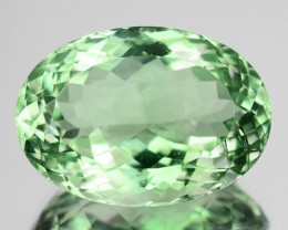 22.16 Cts Natural Baby Green Prasiolite / Amethyst Oval Cut Brazil