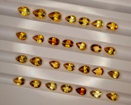 9.65Crt Madeira Citrine Lot  Natural Gemstones JI134