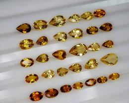 9Crt Madeira Citrine Lot  Natural Gemstones JI134