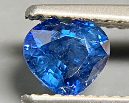 0.86 VS  Blue Sapphire  Heart Heated Only