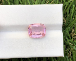 3.59 carat Baby pink color faceted tourmaline from jabba Afghanistan