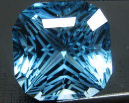 26.52Cts Sparkling Natural Baby Swiss Blue Topaz Square Radiant Cut Loose G