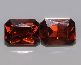 3.80 CTS NATURAL -RHODOLITE ORANGE-RED CUSHION GARNET 6 PCS!!