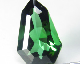 3.88Cts Natural Massive Green Tourmaline Fancy  Custom Cut REF  VDO