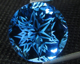 26.62Cts Sparkling Natural  Swiss Blue Topaz Round precision Cut REF VDO