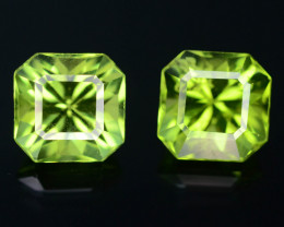 AAA Color 3.20 ct  Himalayan Peridot  ~ Pakistan Pair ~ K