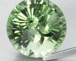 7.72Cts Massive  Natural Green Amethyst (prasiolite) Round precision Cut Re