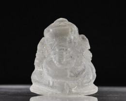 **$15NR**  33ct Natural Quartz Carving - Ganesh