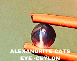 0.55CT -ALEXANDRITE CATS EYE- BEST FROM CEYLON- FROM COLLECTOR