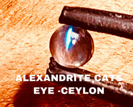 0.29CT -ALEXANDRITE CATS EYE- BEST FROM CEYLON- FROM COLLECTOR