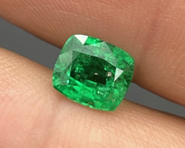 1.34 Cts AAA Grade Vivid Green Natural Emerald Afghanistan Panjshir