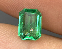 0.94 Cts Fine Grade Vivid Green Natural Emerald Afghanistan Panjshir