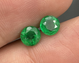 1.47 Cts Afghanistan Panjshir Matching Pair Top Quality Vivid Green Emerald