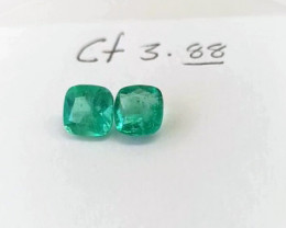 3.88Colombian Emerald Pair