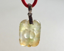 Natural Type A yellow jadeite carving